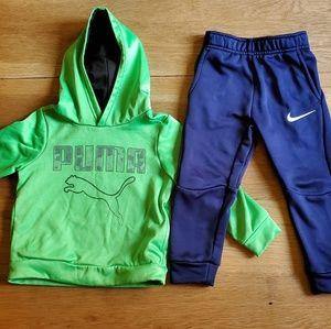 3T Nike Joggers & 3T Puma Neon Sweatshirt